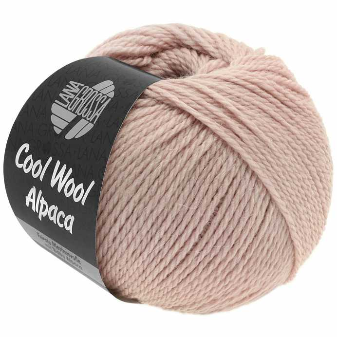 Пряжа Lana Grossa COOL WOOL ALPACA, меринос/альпака, 140 м/ 50 г 26